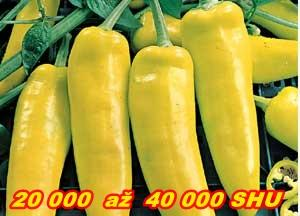 PÁLIVÉ CHILLI PAPRIČKY HUNGARIAN HOT YELLOW WAX/10 semen/